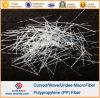 Fibres synthétiques de fibre de vague de polypropylène macro