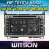 Reprodutor de DVD do carro de Witson para Toyota Venza com sustentação do Internet DVR da ROM WiFi 3G do chipset 1080P 8g