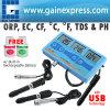 7 in-1 multifunzionali ORP (sistemi MV), pH, CF, EC, TDS (PPM), grado F, termometro del tester del tester di grado C + batteria ricaricabile incorporata (PHT-027)