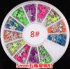 새로운 Design Nail Art Decoration Stickers Metallic Stud Hot Candycolour Rivet Pentagram Design 5mm