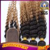 1b27# Peruvian Human Hair Ombre Hair Extension Lace Closure