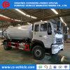 Las aguas residuales HOWO Camiones de aspiración de 10.000 litros para los lodos de aguas residuales, agua sucia, el transporte de materia fecal