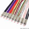 Multicolor Shoelace Metal Cordón de la cuerda de cinta de correr calzado zapatillas