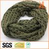Акриловая оливка качества способа Мал-Продырявила связанный полостью шарф шеи