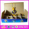2015 Novo design do anel inteligente de madeira brinquedo, Crianças Toss brinquedos de madeira do Anel grosso, brinquedos de madeira deite Toss Jogo Anel Wj277632