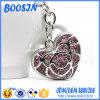 Grande metal oco feito sob encomenda Keychain da forma do coração para mulheres