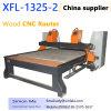 Xfl-1325-2 2 스핀들 판매를 위한 기계를 새기는 목제 CNC 대패 조각 기계