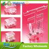 Le renivellement en plastique acrylique complète le présentoir de bijou de support de bille de coton