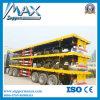 3개의 차축 반 낮게 50 톤 평상형 트레일러 트럭 트레일러