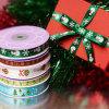 Het afgedrukte Lint van het Satijn voor de Verpakkende Decoratie van de Gift van het Huwelijk van Kerstmis