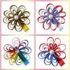 Baby-Haar-Bogen-Regelkreis-Blumen-Haar-Klipp-Mischungs-Farben-Butike Hairbows scherzt Hairclips handgemachte Headwear Zubehör
