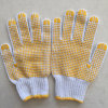 Поставленные точки PVC перчатки хлопка