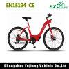 bici eléctrica de la ciudad 36V para la señora con la batería trasera de Samsung del estante