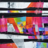 Schilderen van het Canvas van multi-kleuren het Abstracte voor het Decor van de Muur