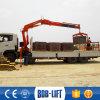 Миниый кран грузового пикапа и 8 используемый тоннами вагон с краном