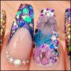 Nail Art Glitter en poudre, 3D des flocons de bricolage des paillettes de décoration d'ongles