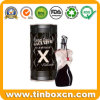 Geprägter kundenspezifisches Metallkosmetischer Zinn-Kasten für Duftstoff-Duft-Öle