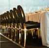 Muebles europeos de oro de la boda del estilo del acero inoxidable usados para el restaurante moderno