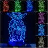 Lampada di scrittorio cambiante della Tabella dell'interruttore 3D di tocco Yoda LED di notte matrice di Star Wars per Star Wars Fans