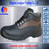 新しいデザインEmbosed革Mddleの切口の安全靴(GWPU-3120)