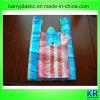 HDPE Griff-Beutel mit buntem Streifen