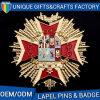 Pinos de lapela mais quentes Badges Esmalte com emblemas de impressão de logotipo