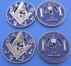 Masonic монетка возможности металла (ASNY-LUC901)