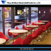 Tavolino da salotto di marmo artificiale e presidenze di disegno moderno