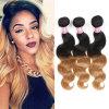 Объемная волна 18inches волос девственницы человеческих волос цвета Ombre перуанская