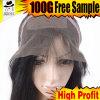 Более высокий парик шнурка плотности 180% бразильский Silk белокурый польностью передний