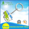 Exclusivo diseño personalizado de promoción de aleación de zinc metal chapado en plata Camión Llavero con logotipo de embalaje