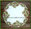 Doily St1765 van Kerstmis van het borduurwerk