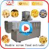 O alimento do petisco do milho faz à máquina a extrusora (a extrusora de parafuso gêmea)