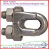 Abrazadera del cable de acero del cinc del clip de cuerda de alambre para la cuerda de alambre
