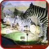 Zebra-Skulptur-Fiberglas-Tier-Baumuster