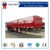 Portador del ganado de China, de la cerca del cargo acoplado semi para la venta
