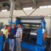 Moinho aberto de Mxing do rolo da máquina de processamento de borracha dois
