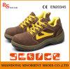 De Schoenen van de Veiligheid van het Leer van het suède met Ce- Certificaat (RH118)