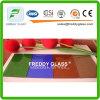 vidro modelado da flora verde de 3-8mm/vidro colorido do vidro de teste padrão/arte/vidro decorativo