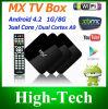 G-Casella completamente caricata astuta Gbox Mx2 Navi-X, Icefilms, sport Android del MX Google Xbmc Droidbox della casella Android della TV del cielo della casella del diavolo adulto TV