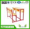 Double bureau combiné en bois d'école avec la présidence (SF-37D)