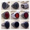 Alta qualidade da venda da fábrica 925 projetos do anel da pedra do Onyx da prata esterlina para homens