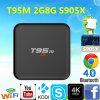 Beständiger und glatter T95m 2g 8g S905X androider Fernsehapparat-Kasten