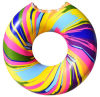 팽창식 무지개 도넛 수영 반지, 팽창식 도넛 수영 반지, 팽창식 도넛 부유물 반지