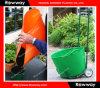 Balde de jardim de plástico, balde de gesso