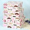 Boîte-cadeau pleine d'humour de papier de carton d'impression de modèle de chaume