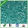 Het groene Gekleurde hard Met een laag bedekte Berijpte Grote In reliëf gemaakte Blad van het Polycarbonaat
