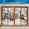 Раздвижная дверь перегородки нутряного украшения картины тени алюминиевая