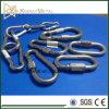 Crochet en acier galvanisé / acier inoxydable avec écrou à vis