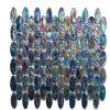 Rainbow magico Design Glass Mosaic con Oval Shape (L1371)